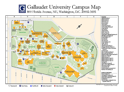 Gallaudet Campus Map